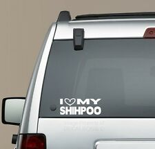 I Heart my Shihpoo decal sticker - puppy treat Shih Tzu Poodle mix