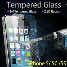 Premium Real Tempered Glass Screen Protector Film Guard fit iPhone 5 5C 5S IP89