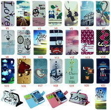 Pretty Printed Design Flip Wallet PU Leather Stand Case TPU Cover For Samsung (V