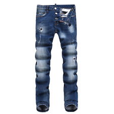 NEW Men Italy Style Distressed Scratches Denim Torn JEANS D#1402#T Size 28-36