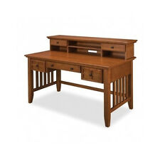 Writing Desk With Hutch Mission Exec Home Office Computer Black or Oak Secretary