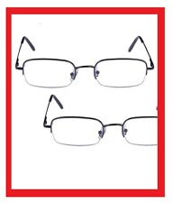 2 Pairs Metal Professional Foster Grant Semi Rimless Reading Glasses Spring Hngs