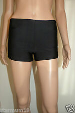 BLACK LADIES GYM SWIM SHORTS BOY STYLE SWIMWEAR TANKINI BIKINI BOTTOM  BRIEF