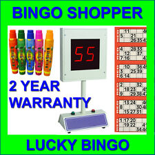 Lucky Bingo Electronic Bingo Machine 1-75 & 1-90 Free 15ml Dabbers or Flyers