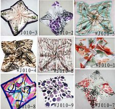 Women Silk Head Kerchief Neck Satin Shawl Scarves Profession Small Square Scarf