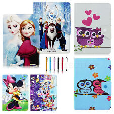 Universal Adjustable For 9.7-10.1 inch Tablet PU Leather Folio Cover Case +Pen
