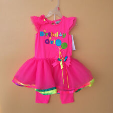 Girl Toddler Birthday Party Outfits 2pcs Sets Hot Pink Party Clothes Age2-7T 270
