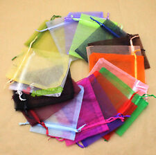 "25/50/100pcs 4""X6"" Organza Jewelry Pouch Bags Wedding Party Favor Gift Candy Bag"