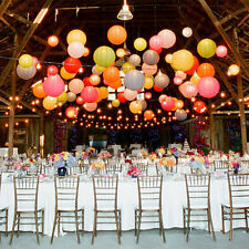"8"" Round  Traditional Chinese Hanging Paper Lanterns for Wedding Party Event"