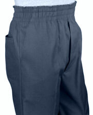 Men's Full Elastic Waist Pull-On Pants with Mock Fly-Navy