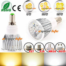 9W/12W/15W MR16/GU10/E27/E14 Cree LED Spot Light Warm Cool White Bulb Lamp dedc