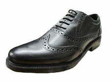*SALE* MENS HUSH PUPPIES BLACK  LACE UP BROGUE SHOE ROCKFORD WIDE FIT