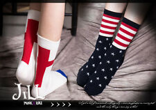 american street punk cartoon liberty ceremony independence day ankle socks