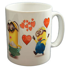 Despicable Me Minions Love Valentines Day Couple Close Up Mug Cup Gift Present