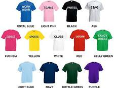 CUSTOM PERSONALISED PRINTED T-SHIRTS -  STAG HEN CHARITY CLUB WORK WEAR SPORTS