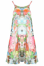 Glamorous Women's Floral Summer Floral Oversized Cami Swing Dress BNWT