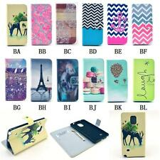 Cute Cartoon Animal Printing Flip PU Leather Stand Case Cover For Samsung Galaxy