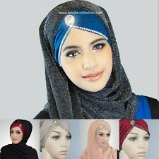 Jewel Jasmine Inner Formal Diamonte Hijab Bonnet Cap Unique Exclusive One Size!