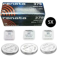 New 5x Renata Watch Battery Swiss Made All Sizes Silver Oxide Renata Batteries