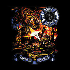Fire Department Dragon Inspirational T-Shirt, Adult and Youth Styles, S-4XL