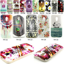 Paint Silicone Rubber Phone Back Cover Case For Motorola Moto G2 2nd Gen 2014