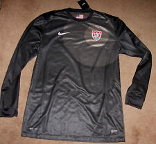 Nike US Soccer USA National Team 2012 Goalkeeper Jersey Mens L XL  Black Howard