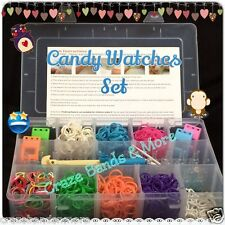 Candy Watch Silicone Rainbow Rubber Band Personal DIY Gift Set Organize Storage