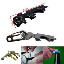 8 in 1 EDC Outdoor survival gear keychain  stainless steel multi-function tool Y