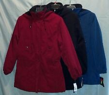 Women's GALLERY Water Resistant Hooded Quilted & Fleece Lined Coat *NWT*  U-PICK