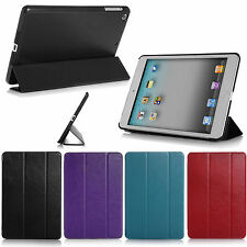 Slim Magnetic Leather Smart Cover Hard Back Case For APPLE iPad Air /2 3 4 /mini