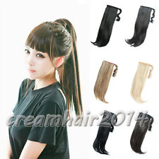 """Clip In On Ponytail Pony Tail Hair Extension Wrap Hairpiece Synthetic Nature 21"""""""