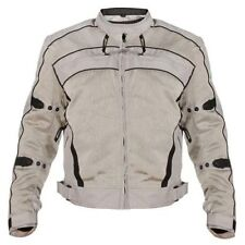 Xelement Mens Silver Igniter Mesh Armored Motorcycle Jacket (M-5XL)