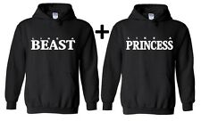 Couple Hoodie Like a Beast Princess Valentines Day Gift For him Hooded sweater