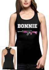 Bonnie Racerback Tank Top Clyde Matching Couple For Valentine's Day Romantic Top