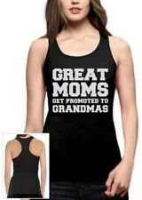 Great Moms Get Promoted To Grandmas Racerback Tank Top Gift For Mother's Day Top
