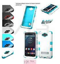 For MOTOROLA Droid Turbo XT1254 Silicone Rubber HYBRID Armor Defender Case Cover