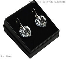 *HEART* 925 Silver Earrings/Set made with Swarovski Crystals - CAL COMET - 14 mm