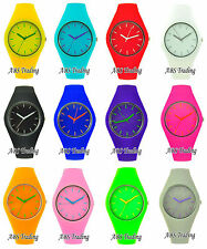 Men's Gents Ladies Women's Silicon/Rubber Wrist Watch