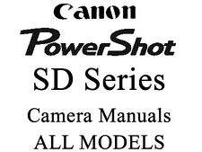 Canon PowerShot SD User  Guide Instruction Manual (SD Grp 2)