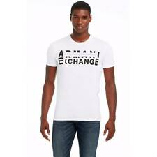 New Armani Exchange Mens Muscle Slim Fit Double Logo Tee Shirt g6x769