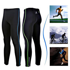 Mens Thermal Running Fitness Cycling Clothing Bicycle Bike Pants Tights Top Wear