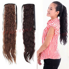 Cute Women Girl Synthetic Long Wavy Ponytail Pretty Extensions Hair Three Colors