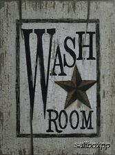 "LS1151 Wash Room Rusty Star Linda Spivey 12""x16"" framed or unframed print art"
