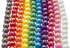 25 PCS AB FACETED ROUND BEADS 12MM CHUNKY ACRYLIC AURORA BOREALIS IRIDESCENT DIY