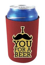 Coolie Junction I Mustache You For A Beer Funny Can Coolie, Neoprene