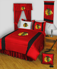 NHL Chicago Blackhawks 10 Piece Bed in Bag - Twin, Full, Queen - Hockey