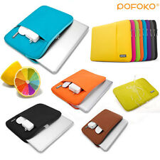 """Soft Notebook Sleeve case carry bag Pouch For Macbook Pro Air White 11 13 15 17"""""""