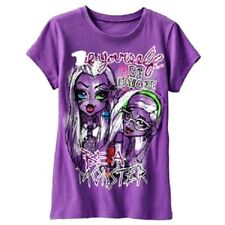 NWT awesome MONSTER HIGH Graphic GLITTER SHIRT SZ14,16 GIRLS $20 PURPLE