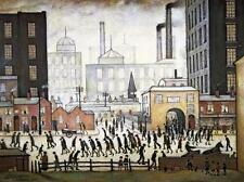 Lowry Comming from the mill Stretched Canvas Multi Size Poster Print Painting