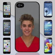 New Justin Bieber Mugshot Jail Apple iPhone & Samsung Galaxy Case Cover